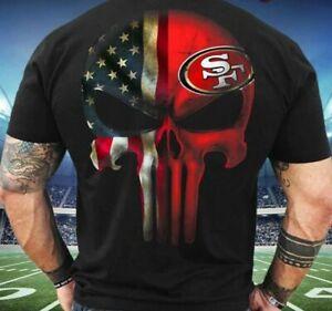 San Francisco 49ers T-Shirt NFL Football Team Funny Black Vintage Gift Men 2021
