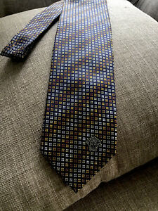 versace necktie medusa logo 100% silk made in Italy