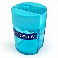 Staedtler Double Hole Tub Pencil Sharpener - Turquoise - 512 006 - 37