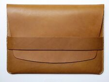 """NEW Kendal & Hyde 15"""" MacBook Laptop Leather Sleeve - WHISKEY"""