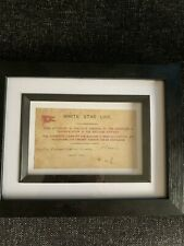 White Star Line Titanic Ticket Framed
