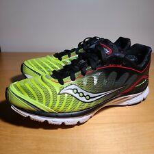 Saucony Men's ProGrid Kinvara 3 Road Running Shoes, Black/Citron/Red Men Size 8