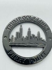Trump Golf Links at Ferry Point Black Milled Cutout Ball Marker Coin Rare Mint