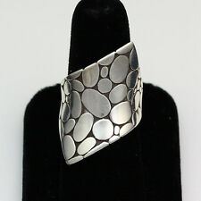 Sterling Silver John Hardy Kali Pebble Contour Ring - Size 7.25