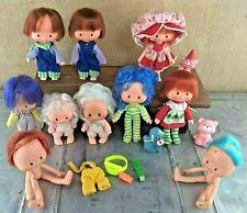 Vintage 1979 Strawberry Shortcake Dolls 10 Doll & 3 Pet Lot