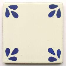 """Handbemalte Fliese """"Bellis Blau"""" aus Mexiko, Kacheln, ca. 10x10cm"""
