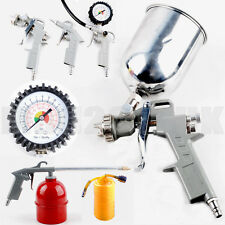 5 Pc Piece Compressor Air Accessory Tool Kit Gun Hose Gravity Spray NEW