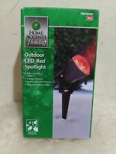 New Home Accents Holiday Outdoor LED Red Spotlight