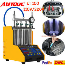 CT150 4 Cylinders Injector Tester Cleaner Ultrasonic Fuel Nozzle Gasoline 220V