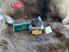 2000 Case 12-31-00 111th Shield Canoe Knife Green PW Bone Handles Mint  RARE 47B