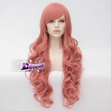80CM Dark Pink Long Curly Hair for Steven Universe Rose Quartz Cosplay Party Wig