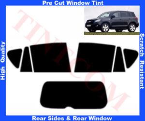 Toyota RAV 4 5D 2006-2008 Pre-Cut Window Tint 5%-50% Rear Window & Rear Sides