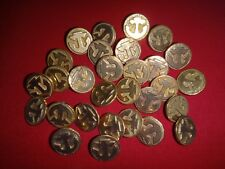 Collection Of 30 NAVY Brass Tone Buttons *Removed From Military Shirts*