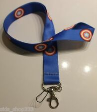 Captain America Lanyard Neck Strap Keychain ID Badge Holder  Marvel blue shield
