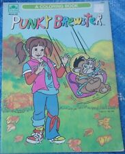 1987 Punky Brewster Coloring Book By Golden Uncolored Nbc Glomer Brandon Vintage