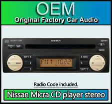 Nissan Micra CD player radio stereo with code, Blaupunkt MM CD-K 7643349318