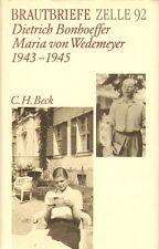 BRAUTBRIEFE ZELLE 92 - DIETRICH BONHOEFFER & MARIA VON WEDEMEYER 1943-1945