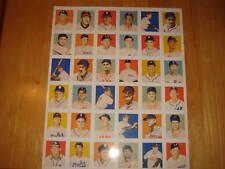 Rare 1949 Bowman PCL Baseball Cards Reprint Uncut Sheet