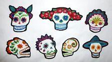 New Sugar Skull Punk DIY Iron On Fabric Appliques T-shirt girl craft Tattoo Baby