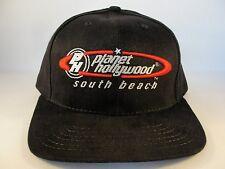 Planet Hollywood South Beach Vintage Adjustable Strap Hat Cap Black