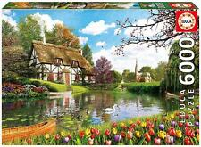 EDUCA JIGSAW PUZZLE LAKESIDE COTTAGE DOMINIC DAVISON 6000 PCS #16784