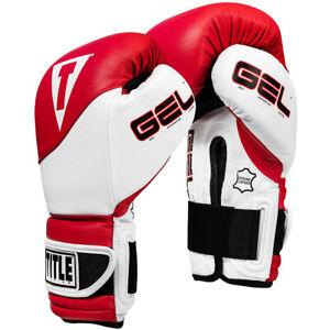 Title Boxing Gel Suspense Training Gloves - Red/White