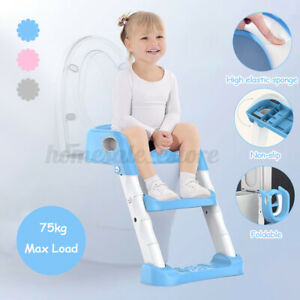 Kids Baby Toilet Chair Potty Training Seat with Step Stool Ladder Non-Slip Safe