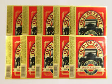 US American MI LOT Old Detroit Red Lager 10x beer label 12 Fl. Oz. Michigan car