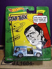 "Hot Wheels STAR TREK  ""SCOTTY"" Custom '52 Chevy. Real Riders/Metal. MOMC"