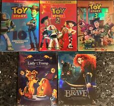 Lot 5 Disney DVDs: Lady And The Tramp, Brave, Toy Story 1,2,3