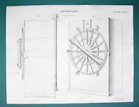 ASTRONOMY Troughton Mural Circle Telescope - c. 1830 Fine Quality Print