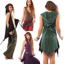 Organic Cotton Pixie Wrap Top, Psy Trance Clothing, Pixie Hood, Plus Size Tunic