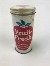 VINTAGE FRUIT FRESH 5 oz. EMPTY ADVERTISING DISPLAY CAN HG1