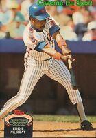 795  EDDIE MURRAY  NEW YORK METS TOPPS BASEBALL CARD STADIUM CLUB 1992