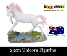 MYSTICAL MAGICAL UNICORN FIGURINE 23CM TALL GLITTER MANE AND TAIL -UNIWATS PINK