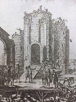 Démolition de la Bastille en 1790 Rare Gravure Révolution Française Paris