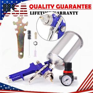 1set HVLP Gravity Feed Air Spray Gun Kit Auto Paint Car Primer Detail Basecoat