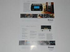 McIntosh MC601 Power Amplifier Brochure 2 pages, Specs, Info MC 601