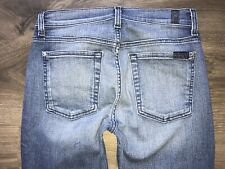 7 For All Mankind Ankle Gwenevere Mid Rise Jeans Raw Hem Sz 27