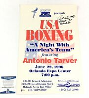 Antonio Tarver Signed 12x18 Fight Poster BAS Coa
