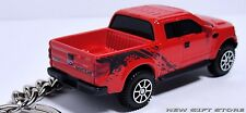 KEY CHAIN RING RED BLACK FORD F-150 RAPTOR 4X4 TRUCK NEW LIMITED EDITION CUSTOM