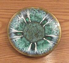 """Vintage Edwards Star for Gump's enamel on copper 9.5"""" bowl midcentury modern"""