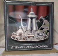 Vintage International Silver Company SP Coffee Set. MIB