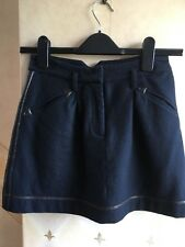 Ladies Navy Blue lined Skirt with Pockets Size 8 by Topshop