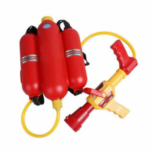 Fireman Backpack Water Gun Extinguisher Water Soaker&Fire Hat Beach