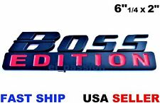 BOSS EDITION Black & Red Universal Cars Logo CUSTOM EMBLEM Rear Bumper Decal