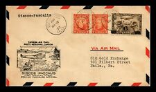 DR JIM STAMPS SISCOE PASCALIS AIRMAIL FIRST FLIGHT CANADA COVER