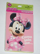 Minnie Mouse 8 Birthday Party Invitations Disney