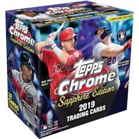 2019 Topps Chrome Sapphire Edition Baseball Live Random Team 1 Box Break #1