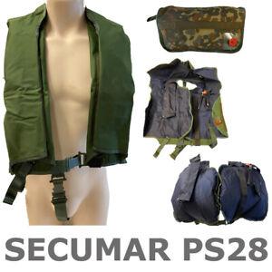 Secumar PS28 Schwimmjoch Schwimmweste Lifejacket Automatik CO2 Bundeswehr NATO